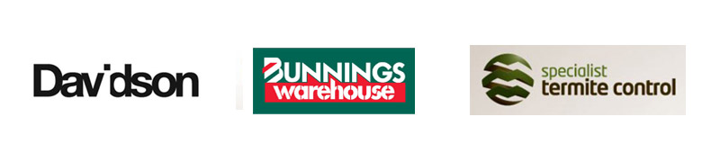 Sponsors - Davidson, Bunnings Warehouse, Specialist Termite Control